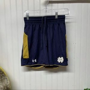 Notre Dame Under Armor Loose Shorts Size Small